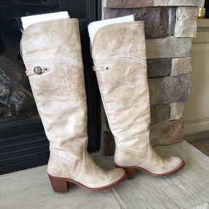 Frye Jane Cuff Tall Leather Boots Sz 7🍷